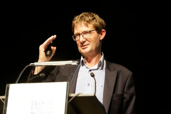 Nic Newman, durante la presentación del informe de Reuters Institute en Barcelona.