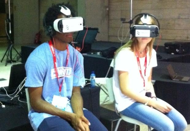 Probar la realidad virtual fue posible en la cumbre de GEN.