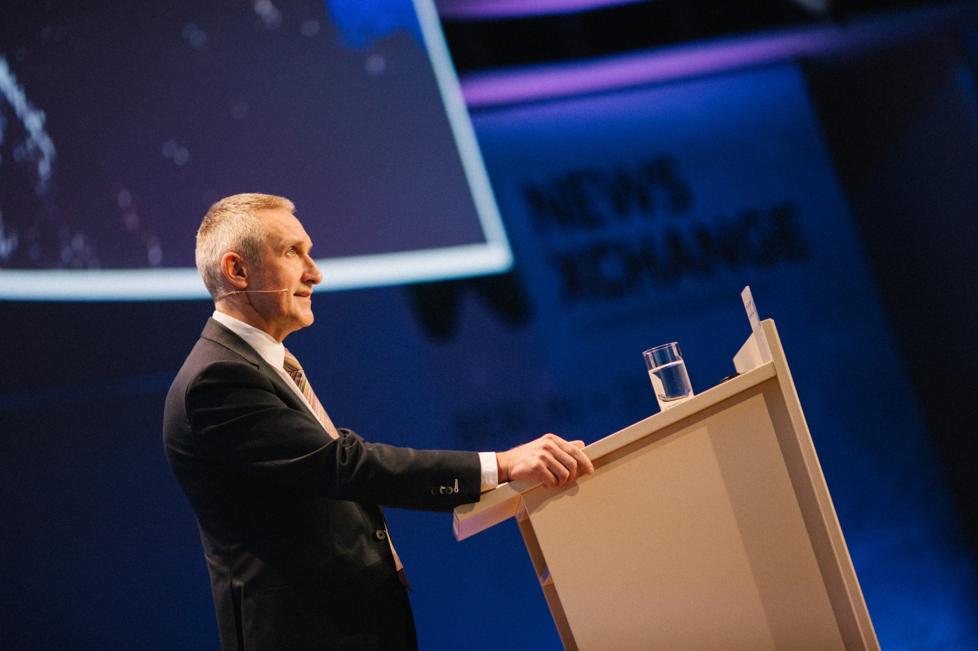 Jean Philip de Tender, durante la conferencia de News Xchange.