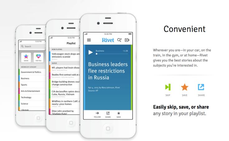 Rivet radio, emisora pionera en la personalización de contenidos.