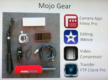 El kit de periodista móvil de Sandra Sperber.