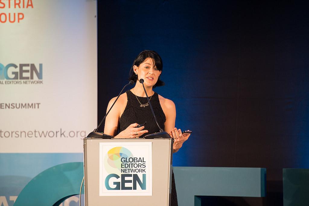 Cory Haik, directora de Estrategia de Mic, durante GEN Summit, en Viena.
