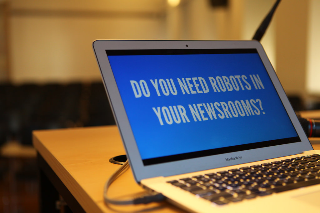 Los robots en las redacciones, uno de los temas que se tratará en GEN Summit. FOTO: GLOBAL EDITORS NETWORK