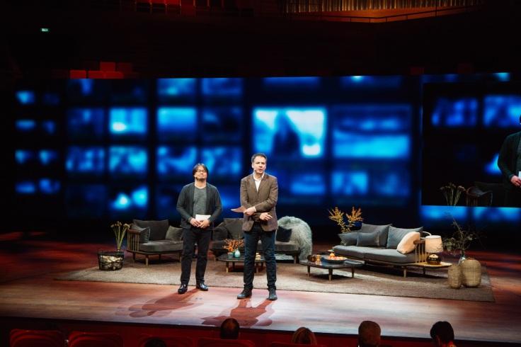 Hirohisa Hanawa, de NHK, y Sam Dubberley, de News Xchange, en Copenhaguen.