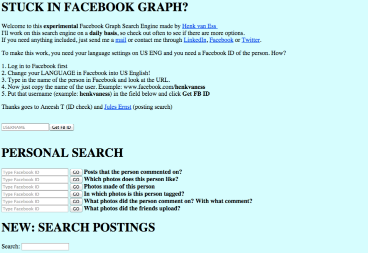 Facebook Graph Search Engine