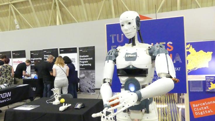 Robot hecho con impresora 3D, creación del escultor Gaël Langevin. FOTO: ANNA LLADÓ