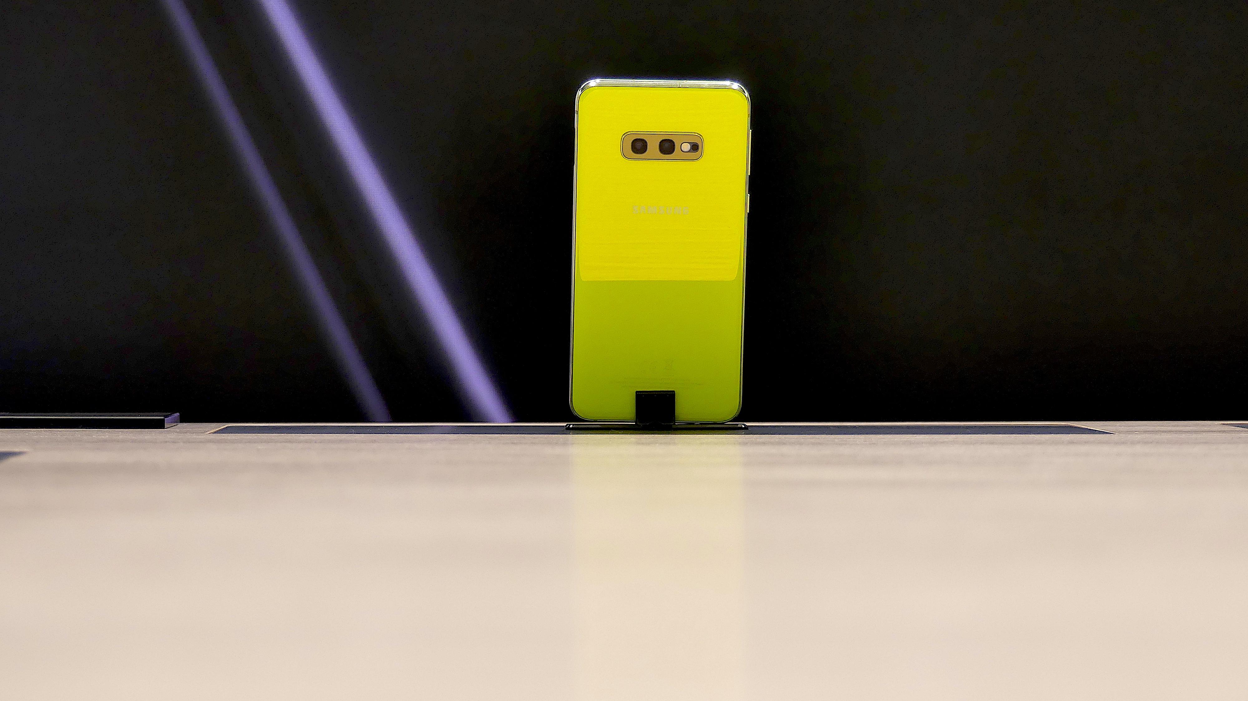 Uno de los móviles de Samsung.