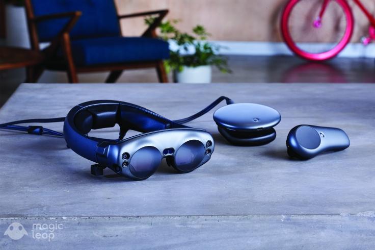 Las gafas de realidad aumentada de Magic Leap. FOTO: MAGIC LEAP.