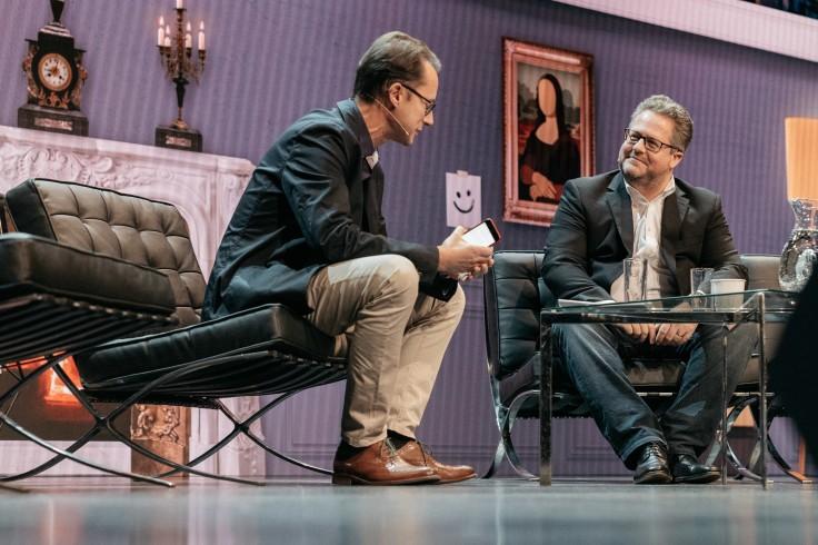 Phil Chetwynd, de Agence France-Presse, entrevista a Jesper Doub, director de las relaciones con los medios de Facebook en Europa, África y Oriente Medio. FOTO: STEFANO SANTUCCI PARA NEWSXCHANGE.